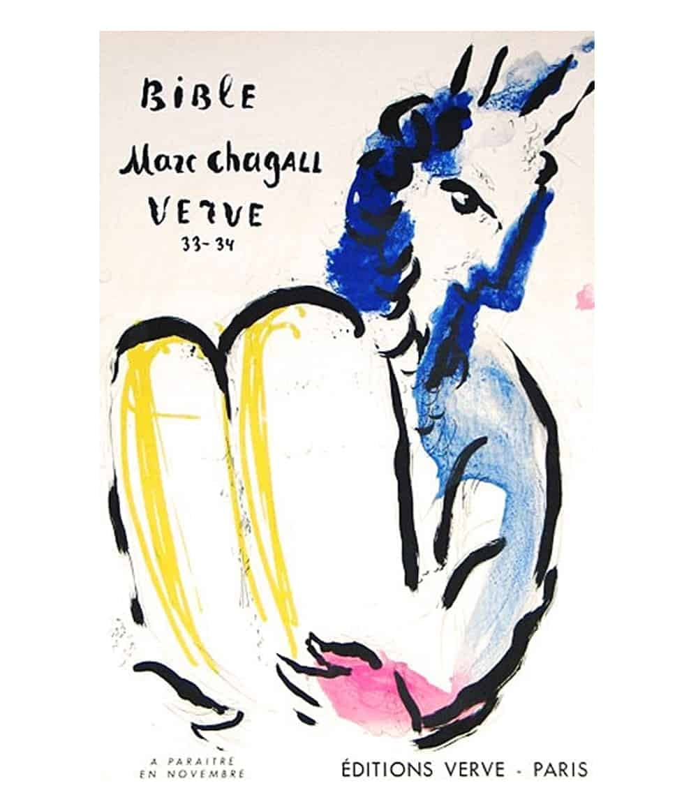 marc chagall verve lithograph