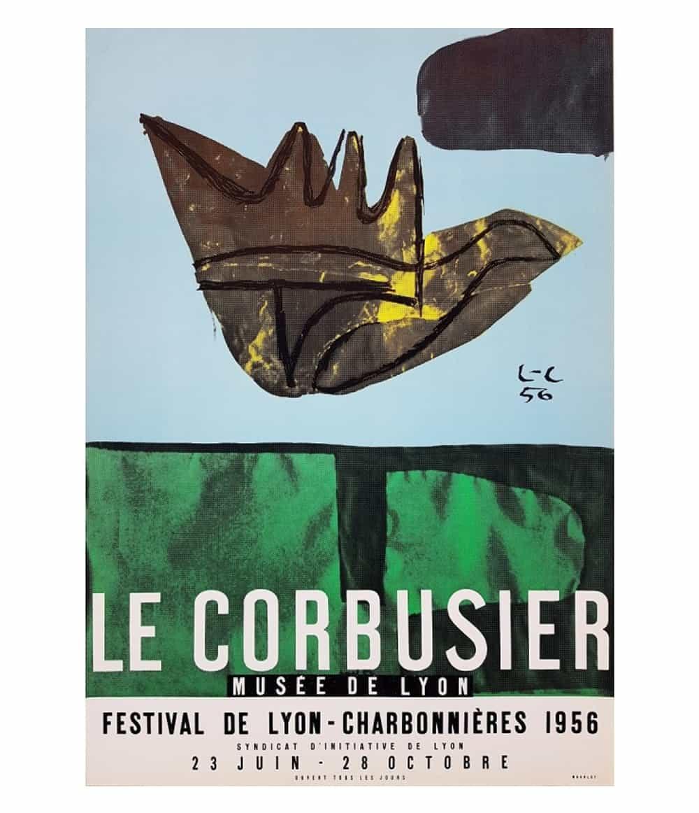 Le Corbusier Lyon Lithograph