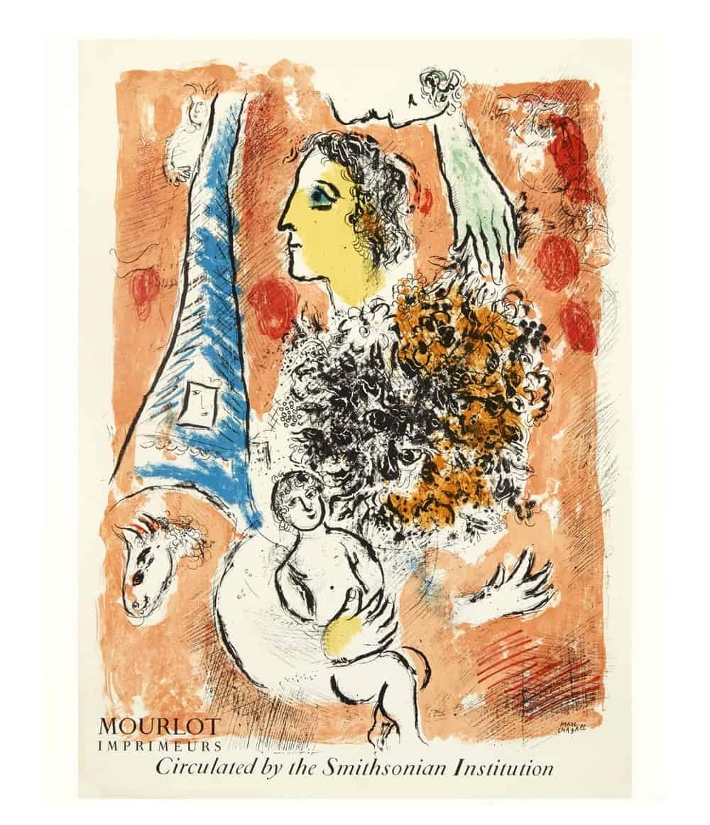 chagall eiffel tower lithograph