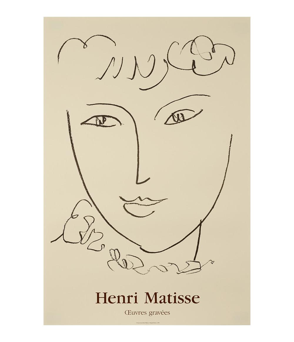 Matisse LA POMPADOUR Print 1951