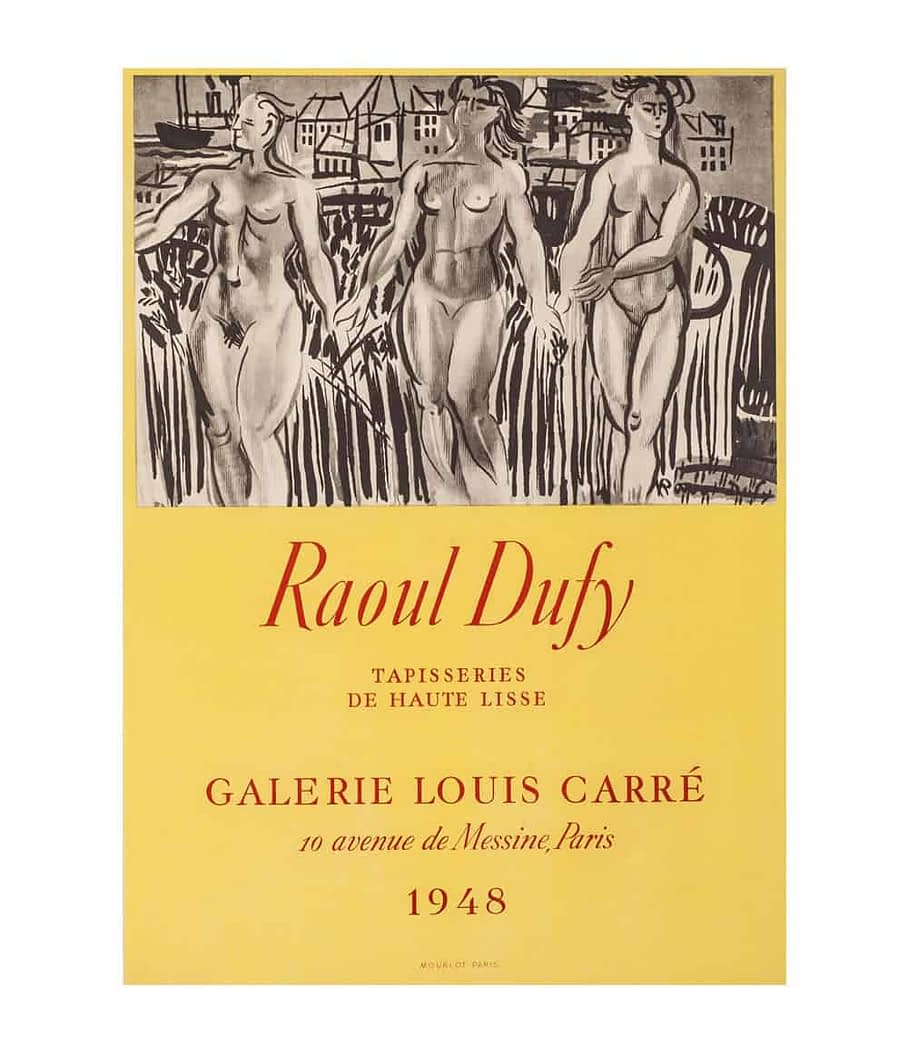 raoul duffy tapestries lithograph