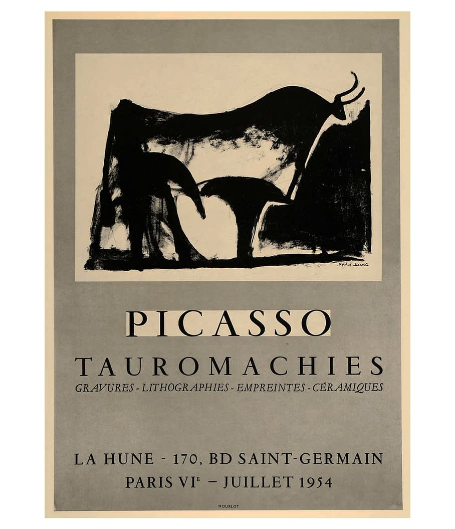 Picasso Tauromachie Lithograph