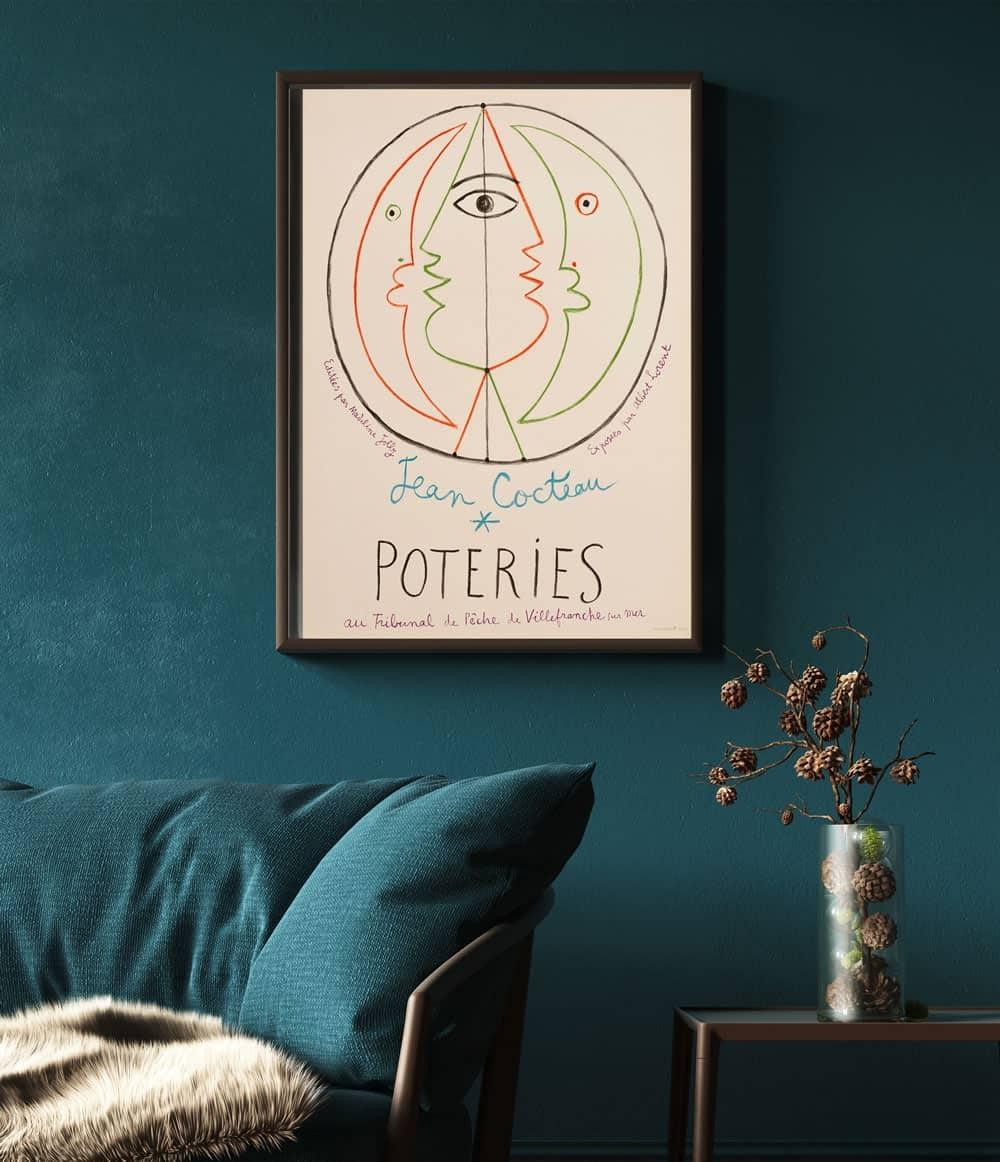 jean-cocteau-lithograph-framed