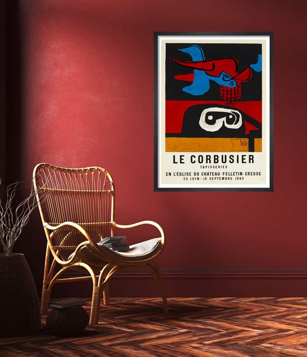 le-corbuiser-lithograph-framed