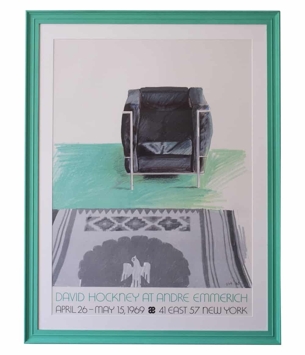 davidhockney le corbusier framed print