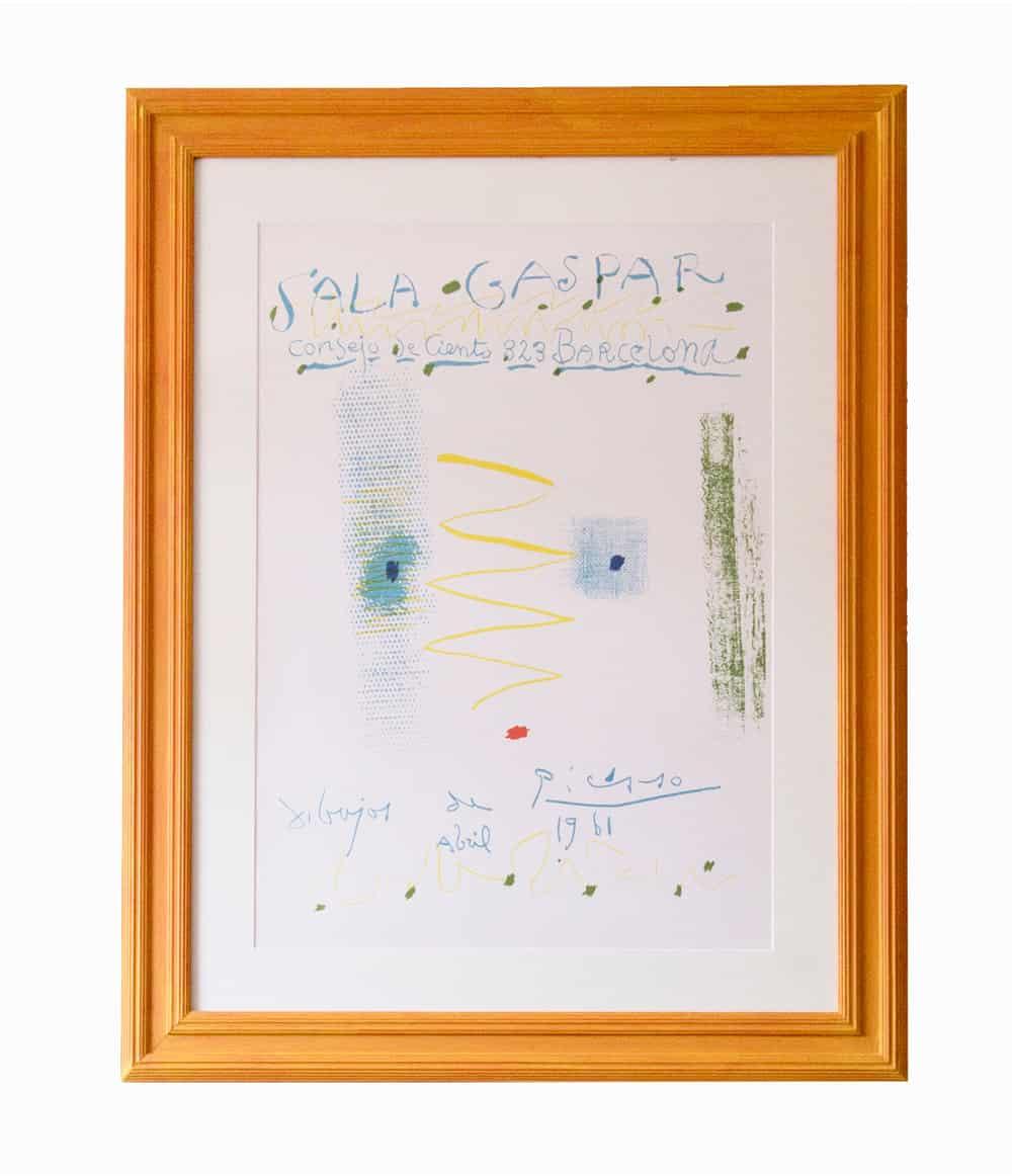 sala gaspar picasso framed