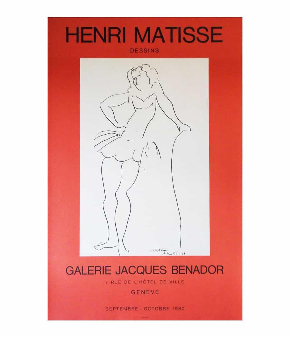 Henri Matisse Dancer Lithograph