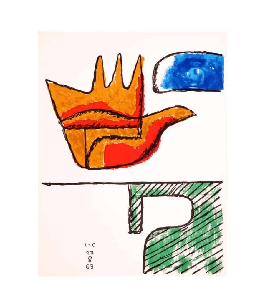 Le Corbusier The Open Hand Lithograph