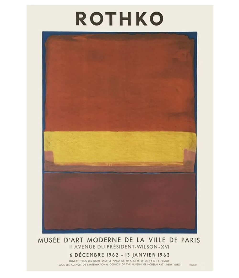 Mark Rothko Lithograph Musee d art Moderne